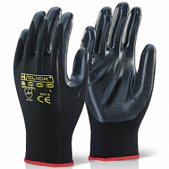 Nitrile Palm Coated Grip Glove w/ 100% Nylon seamless shell