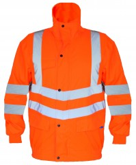 Railguard Waterproof Bomber Jacket W/ Contoured Neckline With Storm Collar