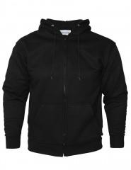 Zip Through Hoody Sweatshirt W/ Double Lined Extra Deep Hood