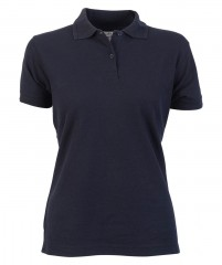 Ladies Fitted Pique Polo Shirt w/ Flattering Shape For Ladies