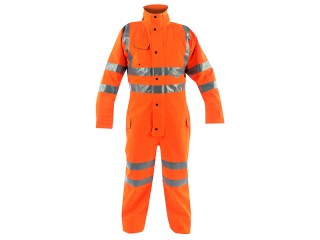 GN620VK – Vapourking Rail HV Coverall w/ Contoured neckline collar