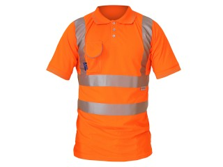 GN650 – Rail S/S Polo Shirt - Special birdeye breathable fabric & Under arm ventilation