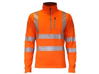 GN680 – Bodymapping Mid Layer Top w/ Excellent breathability & 'Fishbone' reflective tape