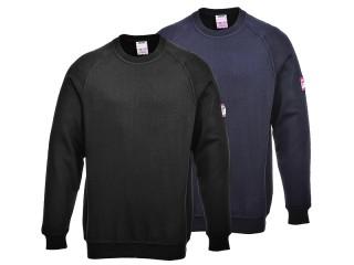 FR034 - Flame-Retardant & Anti-Static Long Sleeve Sweatshirt W/ Ribbed Cuffs