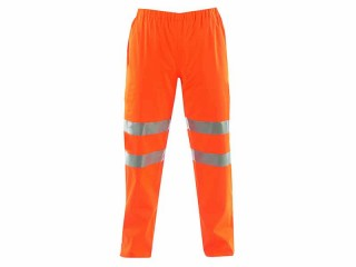 GN300FR - High Vis Orange Flame Retardant Trousers w/ Elasticated Waist