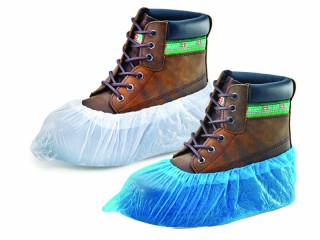 Disposable Overshoes w/ Anti-slip textured surface at the bottom