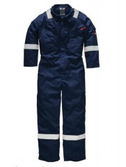 Dickies Firechief High Vis Flame Retardant Coverall w/ Extended Collar