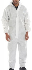 Disposable boilersuit overall w/ Elasticated waistband and ankles
