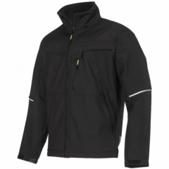 Snickers 1212 Soft Shell Work Jacket Black w/ breathable fleece inner