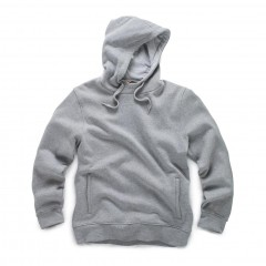 Scruffs Worker Hoodie Grey w/ Reinforced elbows  & adjustable hood