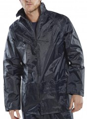 Classic nylon Rain Jacket w/ zipped front & Concealed hood