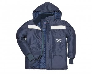 Coldstore Jacket Navy w/ Breathable fabric & Quilt lined for thermal insulation