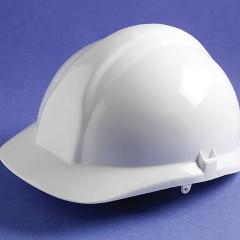 Centurion 1100 Full Peak Safety Helmet White with sweatband