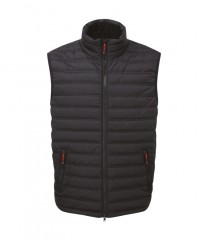 Elite Ribbed Bodywarmer Black w/ Thermofort insulation
