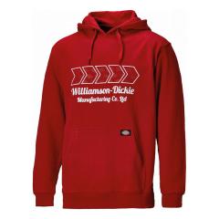 Dickies Arkley Hoodie Red w/ Adjustable hood & lightly padded edge