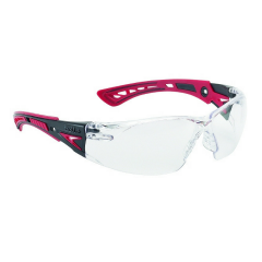 Bollé Safety Rush+ Safety Eyeshields with Platinum A/S and A/F coating
