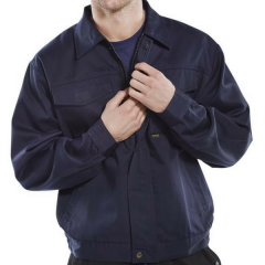 Driver Jacket 9oz 65/35 Poly Cotton w/ chest pockets & stud flap