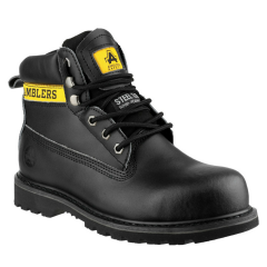 Amblers Ladies Safety Boots w/ Padded collar and tongue