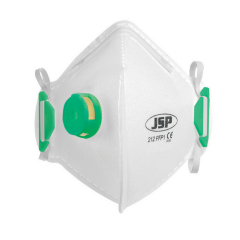 JSP Disposable Valved FFP1 Vertical Fold Flat Masks Box 10