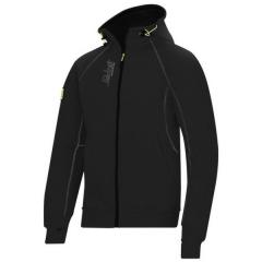 Snickers 2816 Zipped Logo Hoodie w/ Elastic drawstring & Kangaroo pocket