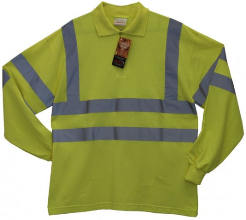 Protex Antistatic FR Hi Vis L/Sleeve Polo Shirt