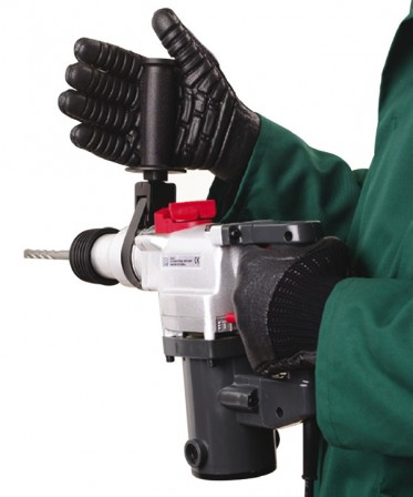 """Anti Vibration Gloves coated with """"pods"""" of lightweight cellular polyurethane"""