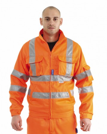 GN600 – Rail Drivers Jacket w/ Twin needle stitching, Cargo & Mobile phone pockets