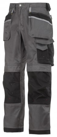 Snickers DuraTwill Trousers w/ Holster Pockets & Cordura reinforcements