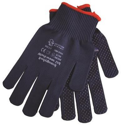 BG Navy Fast Grip Dotted Gloves w/ Soft breathable construction