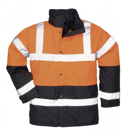 Two-tone waterproof jacket w/ Fully taped seams & Quilt lined