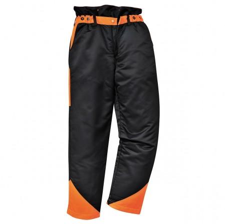 Oak Chainsaw Trouser Black & Orange w/ 9 layers of leg protection