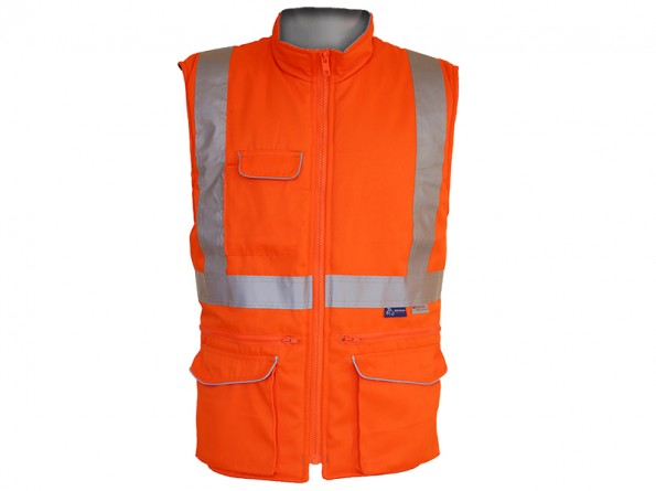Rail Cargo Bodywarmer w/ Thermal insulation & Twin needle stitching