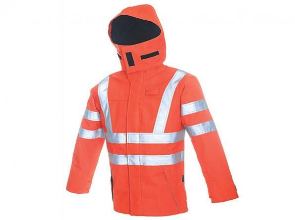 FR088- Arc Flash protection jacket w/ Fully lined Flame Resistant fabric
