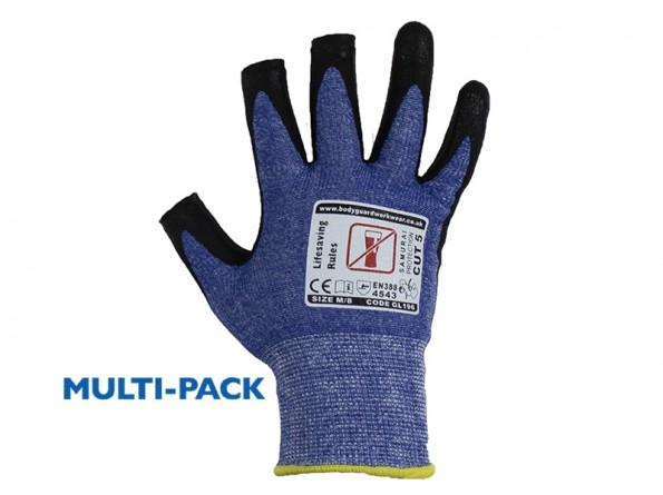 3 Digit Samurai Lite Cut 5 Safety Glove w/ fingertip contact - 12 PAIRS / PACK