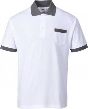 Portwest Decorator Polo w/ ribbed knit collar and cuff