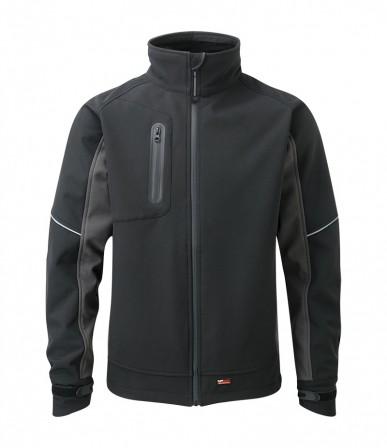 Stanton Soft Shell Jacket Black - Water resistant w/ Waterproof zips