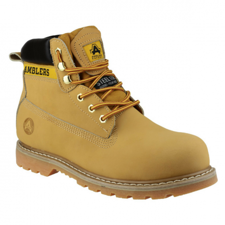 Amblers Goodyear Welted Boot w/ steel toe cap boot & mid-sole protection