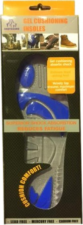 Bodyguard Workwear Gel Insole w/ inserts to relieve pressure