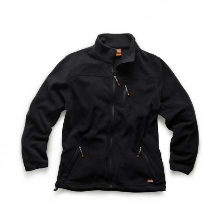 Scruffs Worker Fleece Jacket Black w/ Elasticated cuffs
