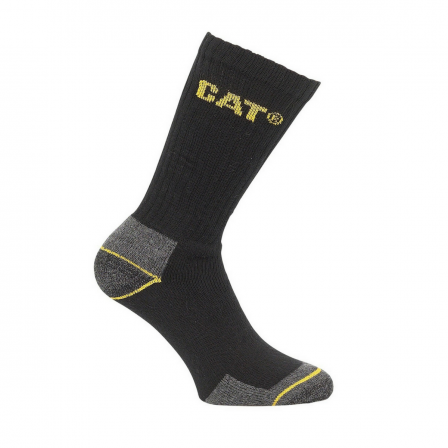 Cat Branded Crew Work Sock 3 Pairs / Pack