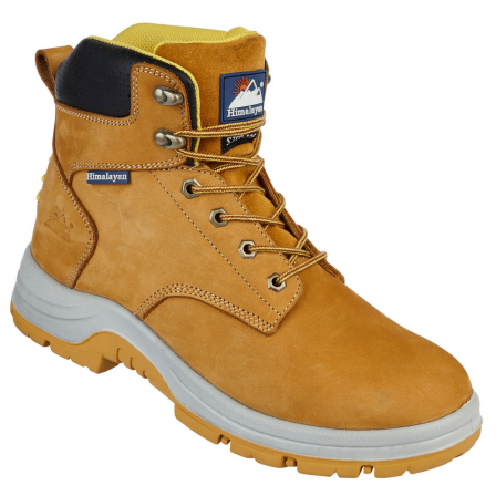 Honey Nubuck Upper Safety Ankle Boot With Steel Toecap and Midsole