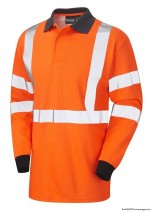 bodyguard-Heat-and-Flame-Resistant-Hi-Vis-Orange-Arc-Flash-&-FR-Long-Sleeve-Polo-Shirt