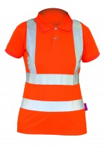 bodyguard-Polo-Shirts-Ladies-Hi-Vis-Rail-S/S-Polo-Shirt