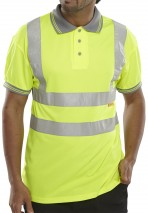 bodyguard-Polo-Shirts-Hi-Vis-Short-Sleeve-Yellow-Polo-Shirt