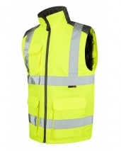 Yellow PU Coated Polyester Bodywarmer