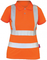 Ladies Hi Vis Rail S/S Polo Shirt
