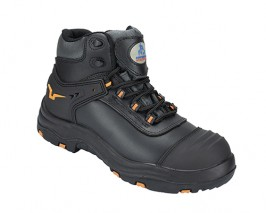 Dynamic leather safety boot w/ Padded Ankle Support and Tongue for Extra Comfort