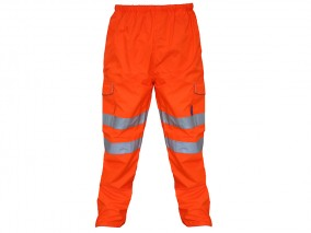 GN300B – Breathable HV Rail Overtrousers w/ Elasticated waist & Cargo pockets