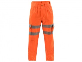Rail Cargo Work Trousers w/ Elasticated flexi waist system & Rear cargo pockets