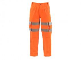 Ladies HV Polycotton Cargo Trousers w/ Elasticated Flexi Waist System